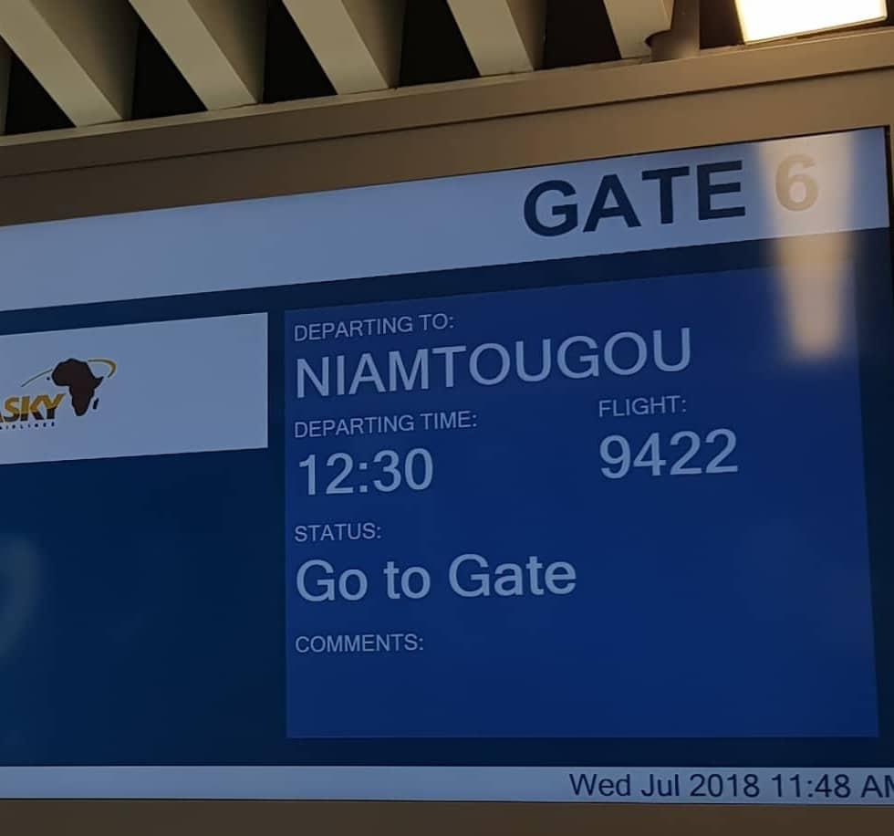 ASKY AIRLINES S'ENVOLE VERS NIAMTOUGOU